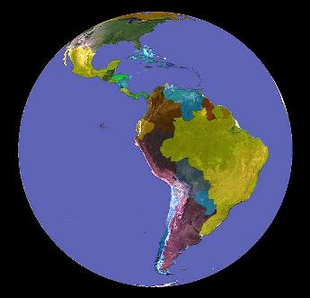 This screenshot of Latin America was created using NASA's global software.